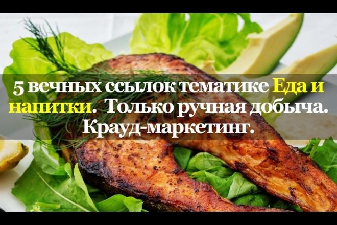 5 вечных ссылок в нише Еда и напитки. только ручная добыча. Крауд 1 - kwork.ru