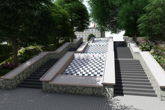 Визуализация фонтана 4 - kwork.ru
