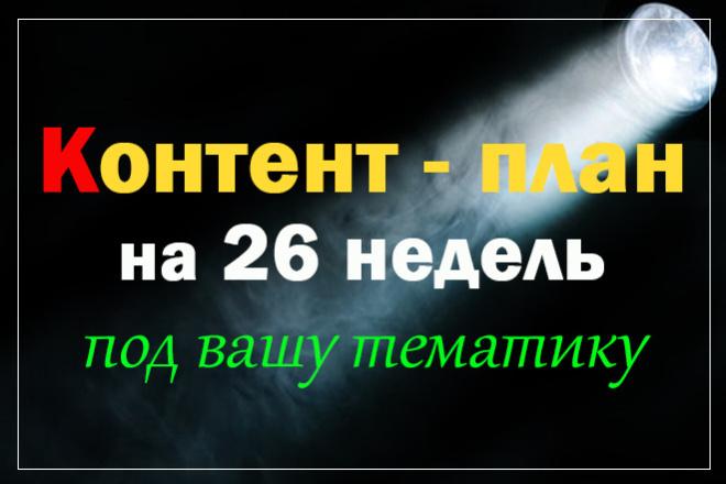 Контент-план на 26 недель под вашу тему и аудиторию,есть демо и отзывы 1 - kwork.ru