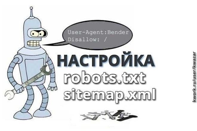 Создам или настрою robots.txt и sitemap.xml для вашего сайта 1 - kwork.ru