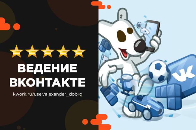Ведение и продвижение группы Вконтакте 1 - kwork.ru