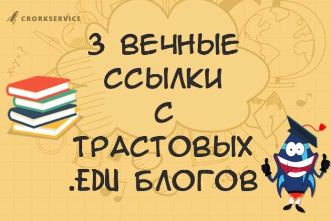 3 вечные ссылки в трастовых EDU блогах 1 - kwork.ru