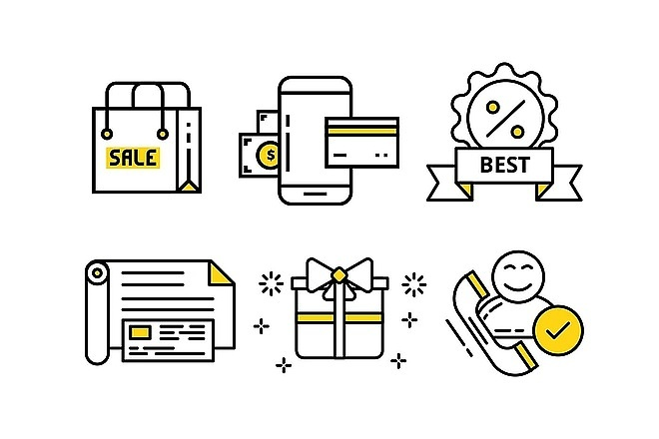 Нарисую векторные иконки для сайта, соц. сетей, приложения 14 - kwork.ru