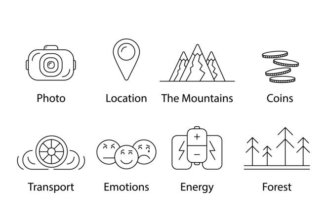 Нарисую векторные иконки для сайта, соц. сетей, приложения 16 - kwork.ru