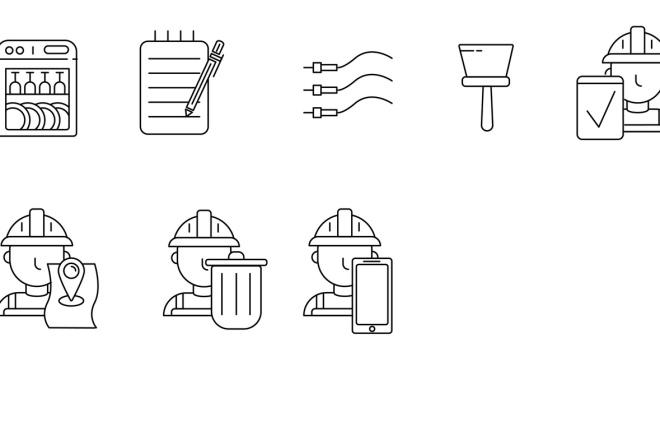 Нарисую векторные иконки для сайта, соц. сетей, приложения 17 - kwork.ru