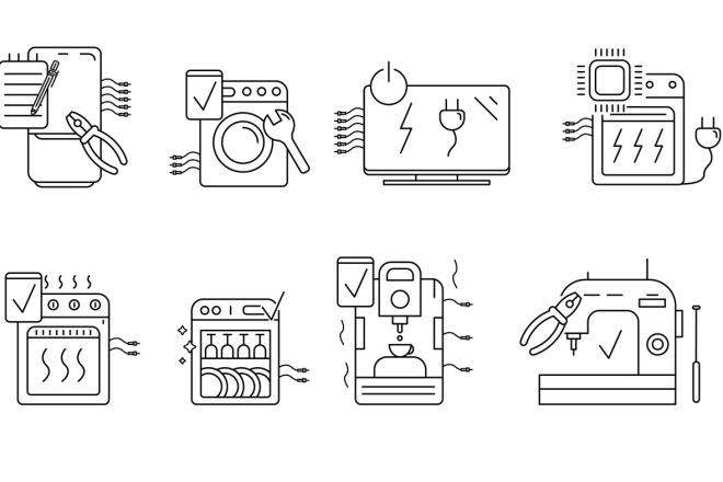 Нарисую векторные иконки для сайта, соц. сетей, приложения 19 - kwork.ru