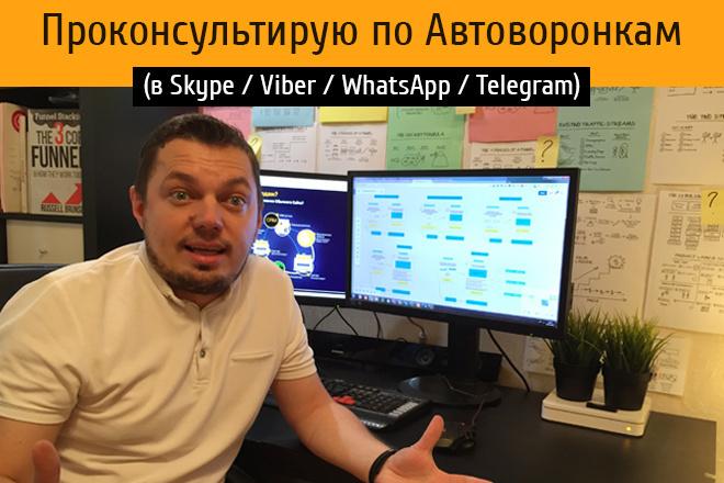 Проконсультирую по технологии запуска Автоворонки или Чат-Бота 1 - kwork.ru