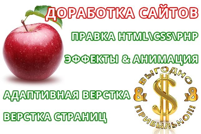 Доработка сайтов HTML, CSS, jquery, PHP 4 - kwork.ru