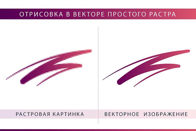 Вектор. Отрисовка в векторе простых эскизов, иконок, логотипов, растра 9 - kwork.ru