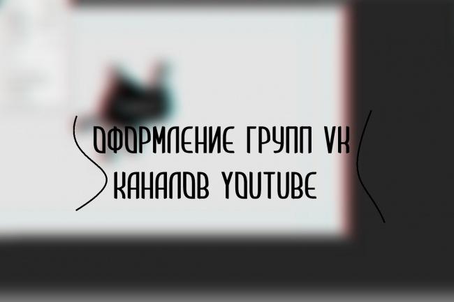 Оформление групп vk, каналов youtube 5 - kwork.ru