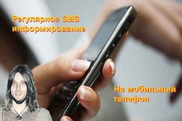 Регулярное SMS информирование о любых событиях 1 - kwork.ru