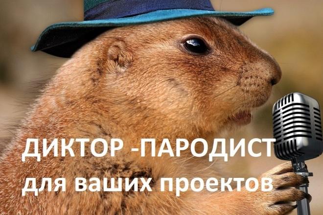 Диктор - пародист. Пародии 1 - kwork.ru