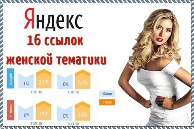 Размещу 16 ссылок на сайтах женской тематики 1 - kwork.ru