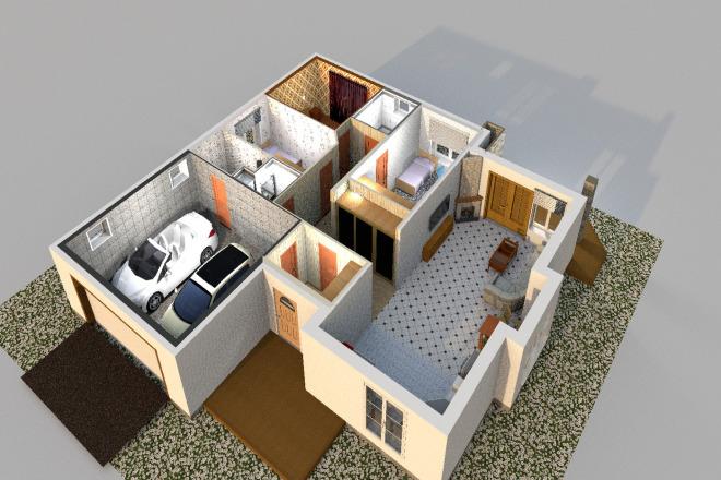 3D визуализация помещений 29 - kwork.ru
