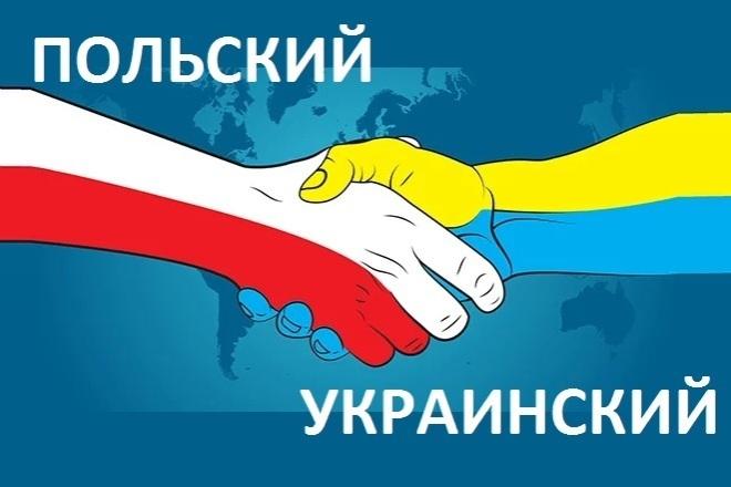 Перевод с польского на украинский язык и наоборот. Качественно 1 - kwork.ru