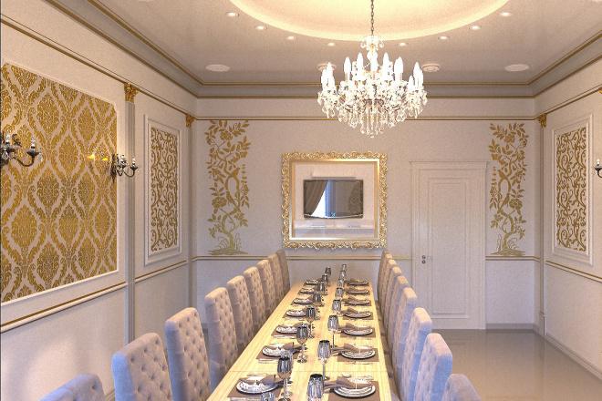 Создам визуализацию банкетного зала 5 - kwork.ru