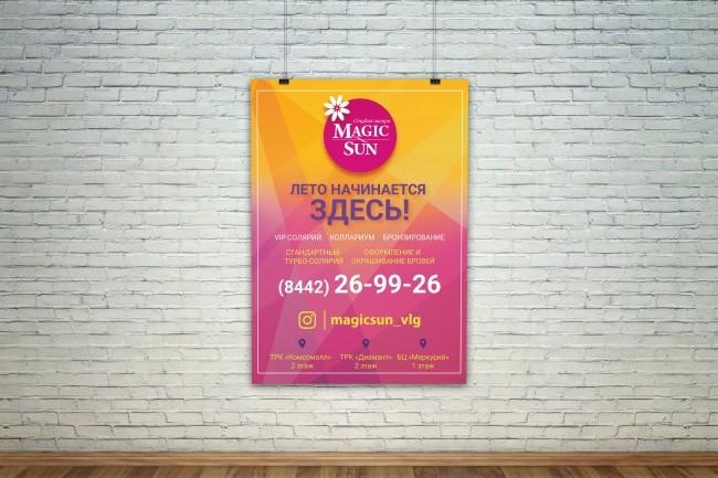 Дизайн плакатов, афиш, постеров 11 - kwork.ru