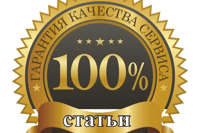 Напишу оптимизированную статью 1 - kwork.ru