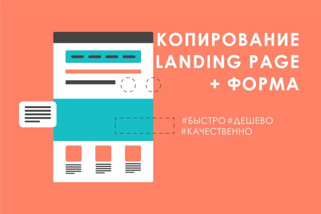Скопировать Landing Page с формой заказа фото