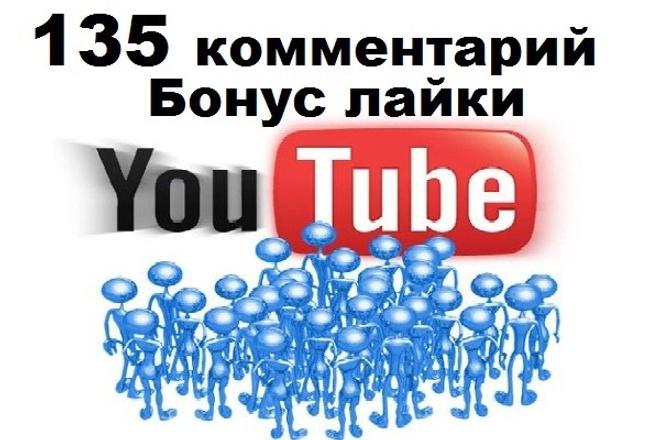 135 комментариев к видео YouTube ютуб + бонус лайки 1 - kwork.ru