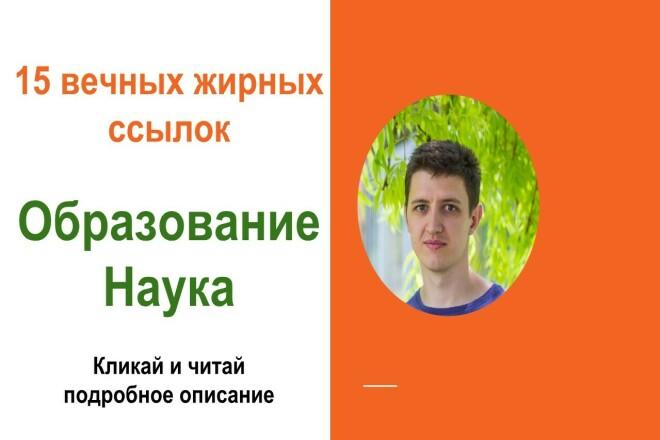 Вечные жирные профильные ссылки тематики образование и наука 1 - kwork.ru