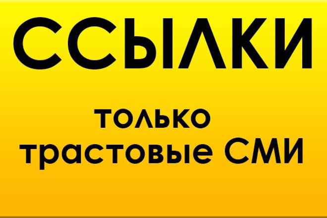 Вечные ссылки с трастовых СМИ в уникальных статьях 1 - kwork.ru