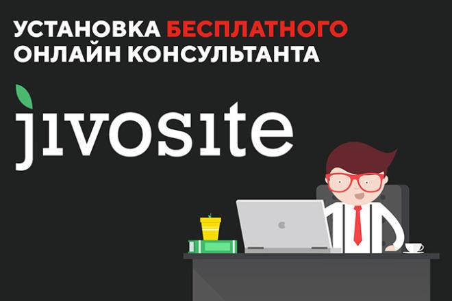 Установлю бесплатный онлайн чат JivoSite на сайте 1 - kwork.ru