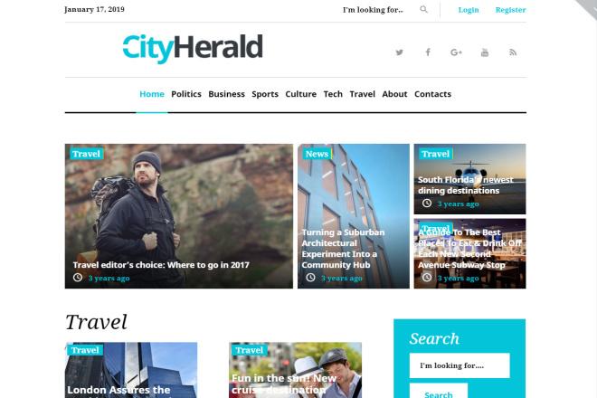 Премиум тема CityHelard для Wordpress + бонус 5 - kwork.ru