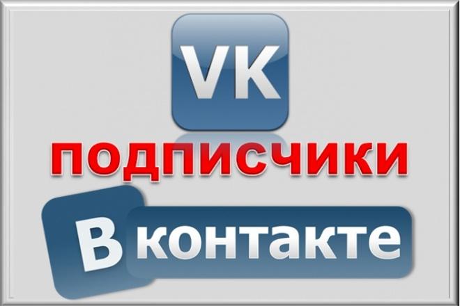 300 подписчиков на паблик Вконтакте, без ботов и программ 1 - kwork.ru