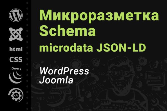 Микроразметка Schema. org для CMS WordPress, Joomla 1 - kwork.ru