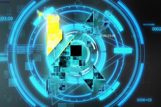 Создам футуристическое интро 1 - kwork.ru