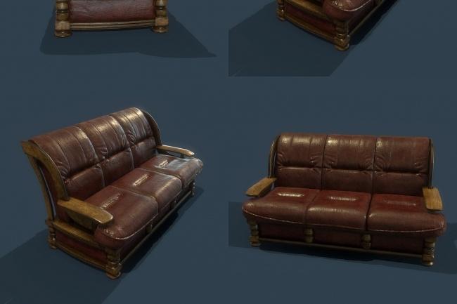 Моделирование мягкой мебели, элементов интерьеров 4 - kwork.ru