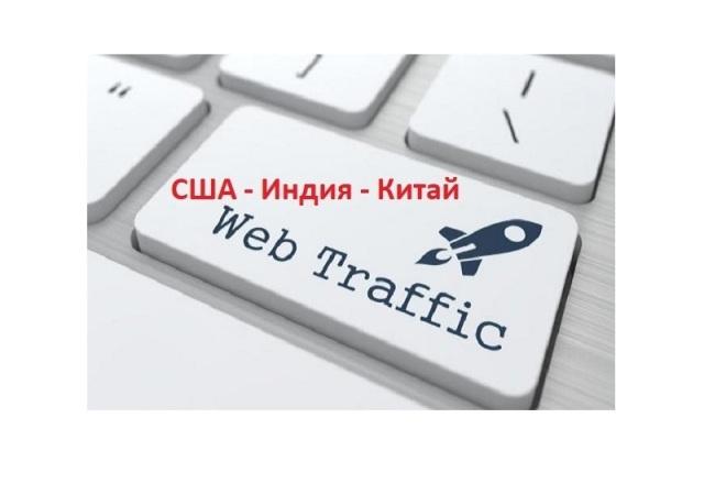 Посетители на сайт 3333 уникальных посещений, Трафик США Web Клики 1 - kwork.ru