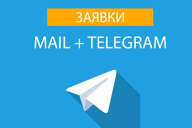 Заявки с сайта в telegram и на почту 1 - kwork.ru