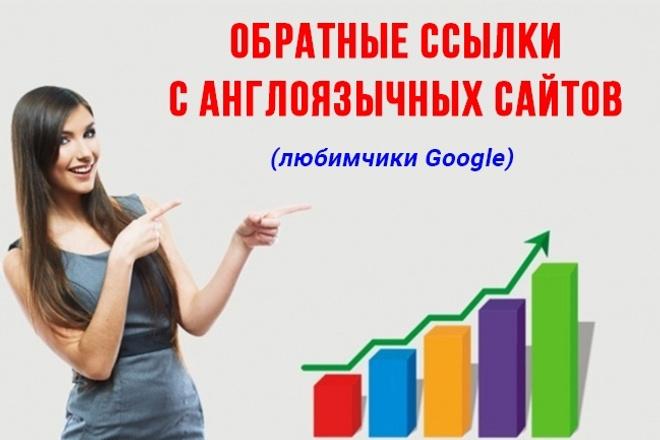 Микс из 70 ссылок на ваш сайт, на англоязычных сайтах 1 - kwork.ru
