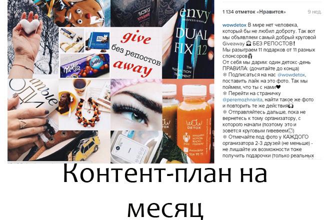 Напишу контент план для instagram на 30 дней 1 - kwork.ru