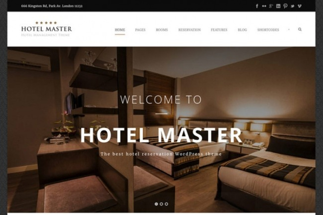 Тема Hotel Booking для WordPress на русском с обновлениями и плагинами 8 - kwork.ru