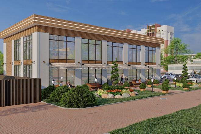3D Визуализация коммерческих и административных зданий 9 - kwork.ru
