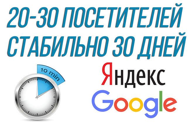 Качественный поисковый трафик от 20 до 30 в сутки целый месяц 1 - kwork.ru