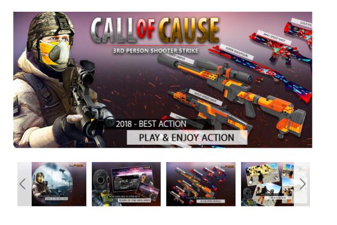Исходник мобильной игры Call Of Cause - Unity3d 1 - kwork.ru