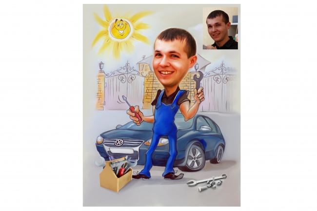 Шарж по фото 37 - kwork.ru