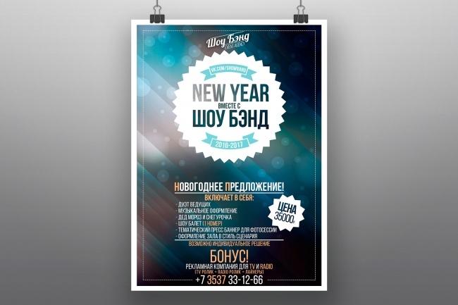 Разработка афиш, постеров, плакатов 11 - kwork.ru