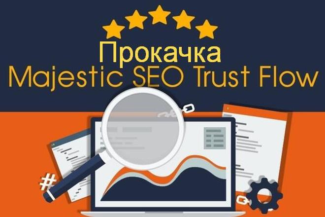 Прокачка траста сайта - Majestic Trust Flow и Citation Flow 1 - kwork.ru
