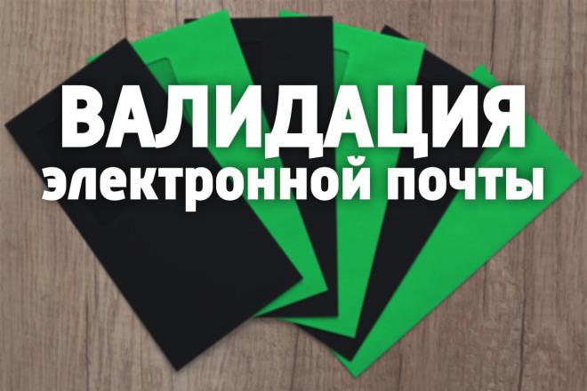 Валидация адресов электронной почты 1 - kwork.ru