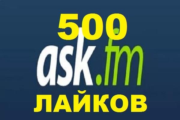500 лайков на вопрос в Ask.fm 1 - kwork.ru