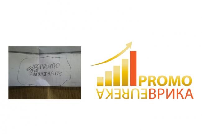 Отрисовка логотипа в векторе по Вашему эскизу 2 - kwork.ru