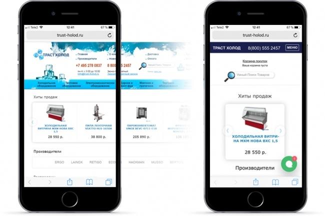 Адаптация  сайта под мобильные устройства 4 - kwork.ru
