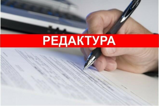 Редактура и исправление ошибок 1 - kwork.ru
