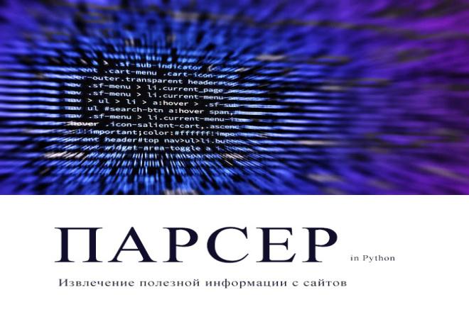 Парсер сайта на Python 1 - kwork.ru