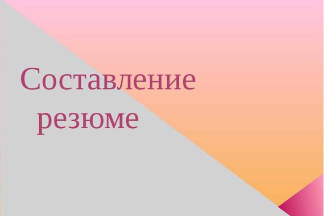 Напишу резюме для Вашей будущей работы 1 - kwork.ru